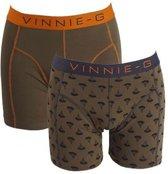 Vinnie-G boxershorts Military Olive - Print 2-pack XL