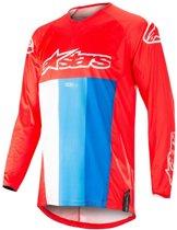 Alpinestars Kinder Crossshirt Racer Venom Red/White/Blue-XL