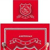 Ajax dekbedovertrek - Rood - 1-persoons (140x200 cm + 1 sloop)
