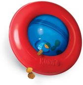 Kong Gyro Voerbal Rood / Blauw - SMALL 12.5X12.5X7.5 CM