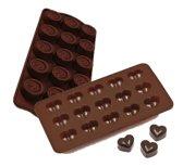 Duo pack Siliconen chocolade vormen - Praline hartjes en snoepjes mal