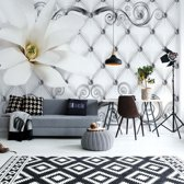 Fotobehang Luxury Flower And Swirl | V4 - 254cm x 184cm | 130gr/m2 Vlies