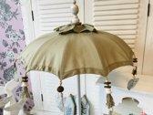Parasol - Taupe - Bali parasol - H92cm - Decoratie parasol - Tafelparasol - Bali - Ibiza - Tafel parasol