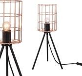 [lux.pro]® Industriële tafellamp - Canberra - rose goud