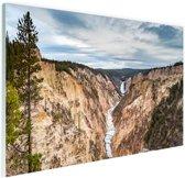 Yellowstone Verenigde Staten Glas 180x120 cm - Foto print op Glas (Plexiglas wanddecoratie) XXL / Groot formaat!