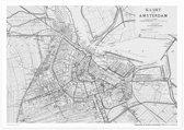 Aandemuur Poster Stadskaart Amsterdam Tweede Editie (uit 1896