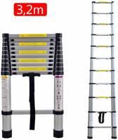 Telescopische ladder - 11 Treeds - Werkhoogte 3.20m - Aluminium