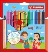 STABILO Cappi Viltstiften - Etui 12 stuks