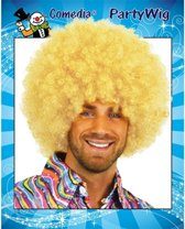 Super afro pruik blond