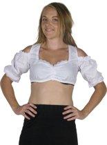 Korte Oktoberfest blouse voor onder een dirndl - Beiers bloesje maat 36/38