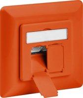 Goobay Netwerk wandcontact inbouwdoos - 2x RJ45 / CAT6 - oranje