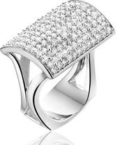Montebello Ring Salma - Dames - Zilver Gerhodineerd - 30 mm - Maat 60 - 19 mm