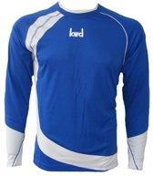 KWD Shirt Nuevo lange mouw - Kobaltblauw/wit - Maat XL