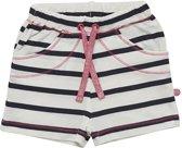 Minymo - meisjes short - YD stripe - wit blauw - Maat 92