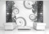 Gray | White Photomural, wallcovering