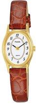 Pulsar PPGD76X1 horloge dames - bruin - edelstaal doubl�