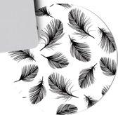 Muismat Black and White Feathers| Muismat Rubber | Mousepad 20 x 20 cm |