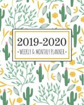 2019-2020 planner cacti: Cacti Diary Agenda Calendar Schedule Organizer - Sept 2019 through December 2020