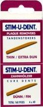 Stimudent tandenstokers dun - 160 st - Tandenstoker