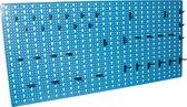 Erro Storage Gereedschapswand - Incl. Hakenassortiment (36 stuks) - Staal - Blauw - P1300