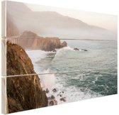 Kliffen Amerika Hout 30x20 cm - klein - Foto print op Hout (Wanddecoratie)