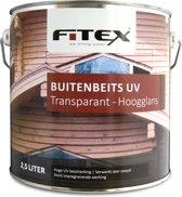 Fitex Buitenbeits UV - Transparant - Hoogglans - 2,5 liter