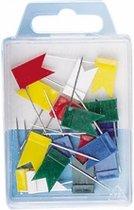 Wedo landkaart vlaggen gekleurd assorti
