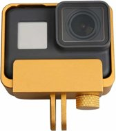 Aluminium rand frame mount beschermende behuizing Case Cover voor GoPro HERO6 Black / HERO5 Black / HERO7 Black (goud)