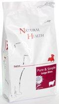 Natural Health Droogvoer Hondenvoeding Natural Health Dog Lamb & Rice Adult Large single proteïn - premium