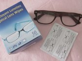 Brilpoetsdoekjes - Streeploos - Brillen - Camera - Helm - Mobiel - Laptop - Schoonmaak doekjes - 50 stuks - Wipes - Nat