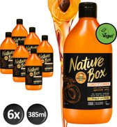 Nature Box Abrikoos Conditioner Vegan 385ml - 6 stuks - Voordeelverpakking