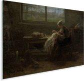 Moederweelde - Schilderij van Jozef Israëls Plexiglas 160x120 cm - Foto print op Glas (Plexiglas wanddecoratie) XXL / Groot formaat!