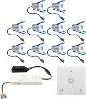 Malaga LED inbouwspots 10x3W dimbaar IP65