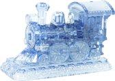 Funtime Crystal 3D Puzzel - Stoomlocomotief - Blauw - 38-delig
