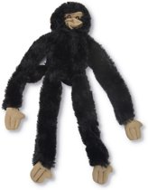 Flatino pluche speeltje aap zwart 30cm