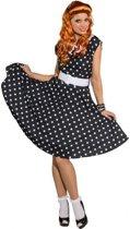 Rock n roll jurk zwart met wit 42