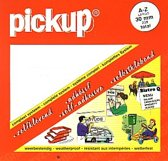Pickup plakletters boekje Largo 20mm letters wit