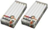 Bolsius Dinerkaarsen - 230/20 kleur wit - 20 kaarsen in 2 verpakkingen