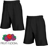 Fruit of the Loom (2 Pack) Korte Broeken Zwart Maat S