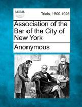 Association of the Bar of the City of New York