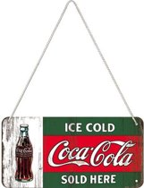 Nostalgic Art Metalen bord Hanging Coca Cola Ice cold