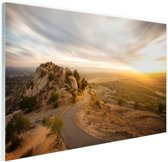 FotoCadeau.nl - Woestijnslandschap Glas 90x60 cm - Foto print op Glas (Plexiglas wanddecoratie)