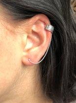 Zilveren Chain Ear cuff Boho
