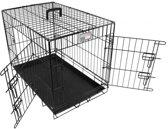 Doginox Bench 2-Deurs - Hondenbench - Zwart - 93x57.5x65 cm