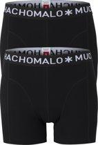 Muchachomalo boxershorts - 2-pack - zwart -  Maat M