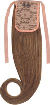 Remy Human Hair Extensions Ponytail straight bruin 8#