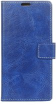 Mobigear Retro Luxe Wallet Hoesje Blauw LG V40 ThinQ