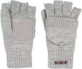 Starling Vingerloze Handschoenen Gebreid Unisex Noël Grijs Maat XL