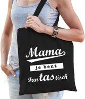Cadeau tas zwart katoen met de tekst Mama je bent fanTAStisch - kadotasje voor moeders