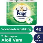 Page Aloë Vera - 4x 6 rollen - Toiletpapier - Voordeelverpakking